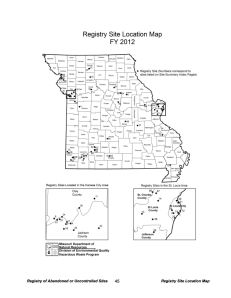 Source: Missouri Registry Annual Report, Fiscal Year 2012.