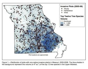 Source: Moser, Hansen, & Nelson, The Extent of Selected Non-Native Invasive Plants on Missouri Forestland.