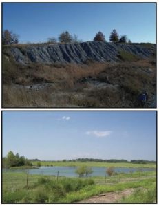 West Montrose Mine before and after reclamation. Source: 2010-2011 Land Reclamation Program Biennial Report.