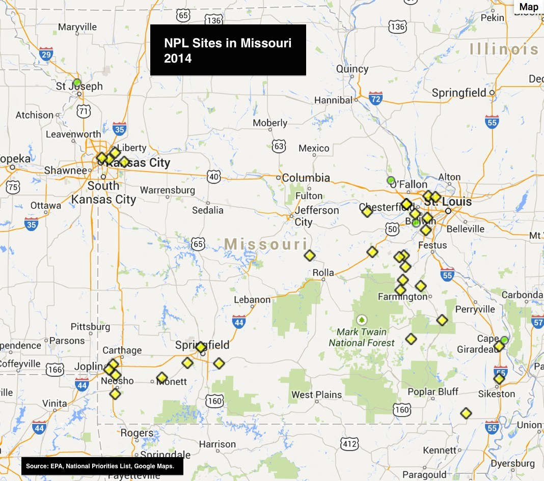 Missouri Superfund Sites Remain The Same Mogreenstats