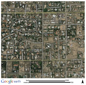 Figure 32: Paradise Valley, Arizona Seen from Space. Source: Google Earth.