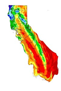 Will California melt away? Adapted from a map by the Oregon Climate Service via the Western Regional Climate Center.