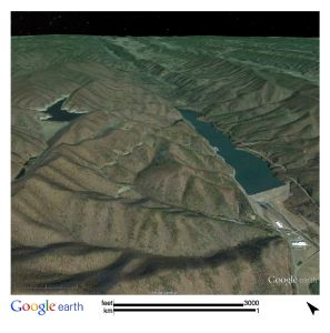 Figure 19: Image of the Bath County Pumped Hydro Storage Station. Image generated on Google Earth.