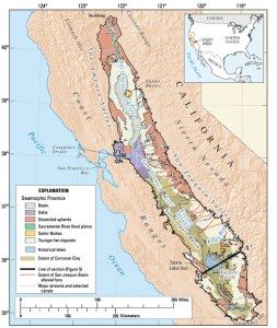 Figure 6: Map of Central Valley Aquifer. Source: USGS California Water Science Center.