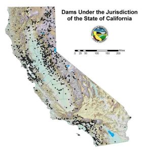 Figure 20: Map of Dams in California. Source: California Department of Water Resources, 2015e.