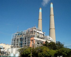 Figure 17: The largest natural gas power plant in California is the Moss Landing Plant, near Monterey. Phot by John Pilge.