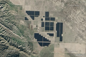 Figure 18: The Topaz Solar Generating Station as seen from space. Source: NASA Earth Observatory.