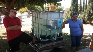 Emergency Water Distribution Tank, East Porterville, CA. Source: Community Water Center.
