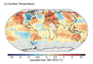 Figure 1: Global Surface Temperature Anomalies, 2014. Source: Blunden & Derek 2015.