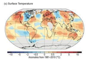 Figure 1: Global Surface Temperature Anomalies, 2014. Source: Blunden & Derek 2015.
