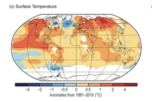 Figure 1. Map of Average Temperature Anomalies, 2015. Source: Blunden and Arndt 2016.