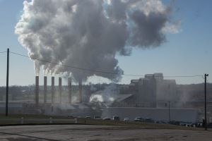 Figure 2. Mississippi Lime Co. Ste. Genevieve Plant on a Winter Morning. Photo by John May.